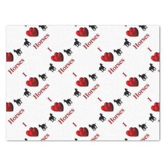 "I Heart Horses 15"" X 20"" Tissue Paper"