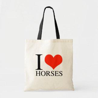 I Heart Horses Canvas Bag