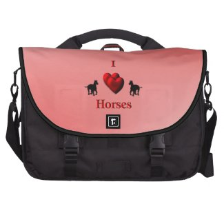 I Heart Horses Commuter Bag