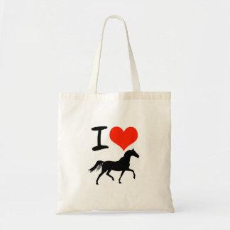 I Heart Horses Tote Bags