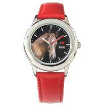 I [heart] Horses Wristwatch