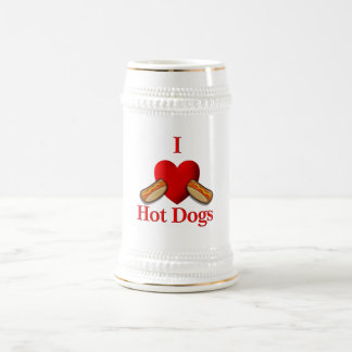 I Heart Hot Dogs Beer Stein
