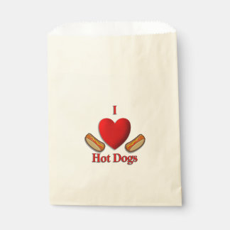 I Heart Hot Dogs Favor Bag
