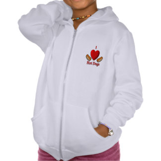 I Heart Hot Dogs Hooded Pullover