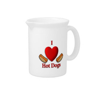 I Heart Hot Dogs Pitchers