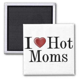 I Heart Hot Moms 2 Inch Square Magnet