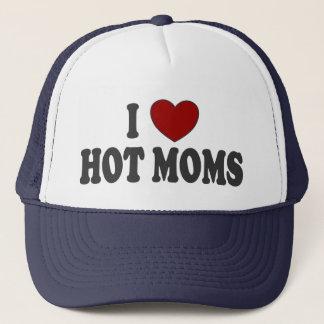 I Heart Hot Moms Trucker Hat