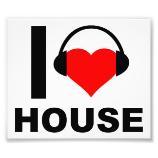 I Heart House Funny Poster Photograph