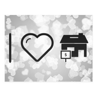I Heart House Sales Postcard