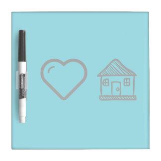 I Heart Houses Dry-Erase Whiteboard