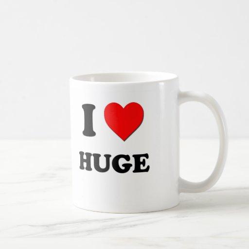 I Heart Huge Classic White Coffee Mug