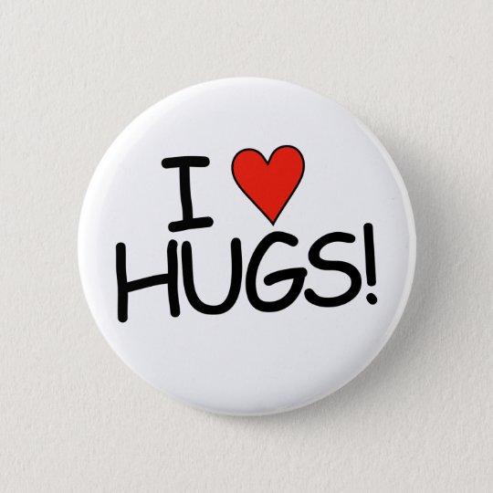 "I ""HEART"" Hugs! Button"