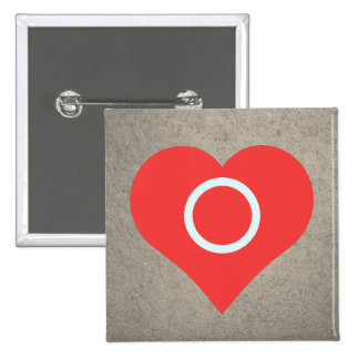 I Heart Hula Hoops Vector 2 Inch Square Button
