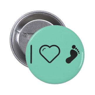 I Heart Human Footprints 2 Inch Round Button