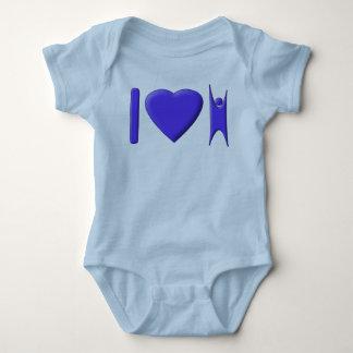 I Heart Humanism Baby Bodysuit
