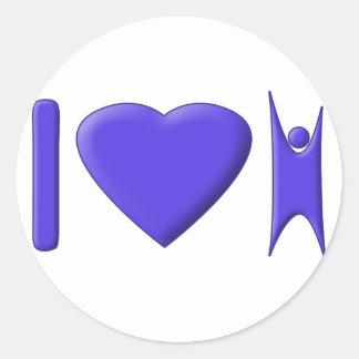 I Heart Humanism Classic Round Sticker