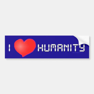 I Heart Humanity Bumper Sticker Car Bumper Sticker