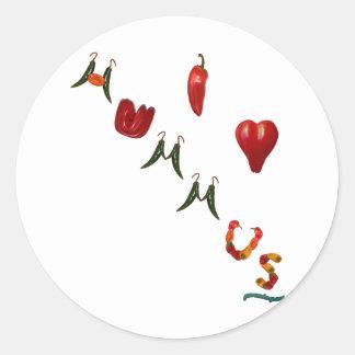 I Heart Hummus Classic Round Sticker