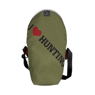 I Heart Hunting Messenger Bags