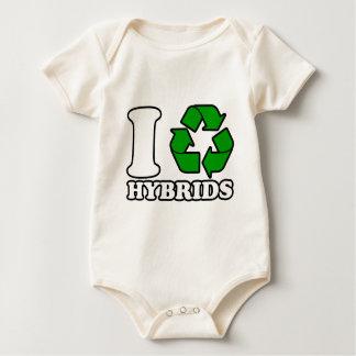 I Heart Hybrids Baby Bodysuit