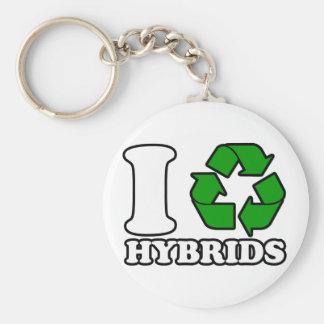 I Heart Hybrids Keychain