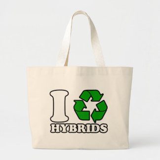 I Heart Hybrids Large Tote Bag