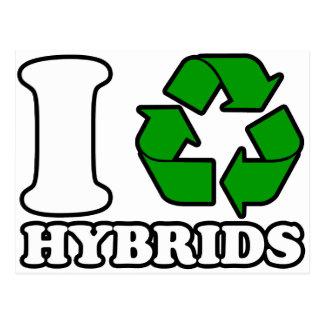 I Heart Hybrids Postcard