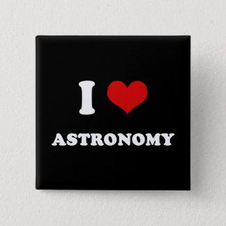 I Heart I Love Astronomy Button
