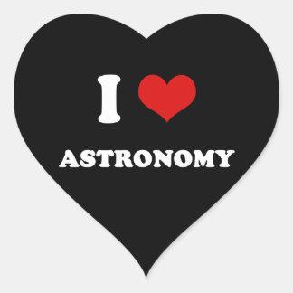 I Heart I Love Astronomy Heart Sticker