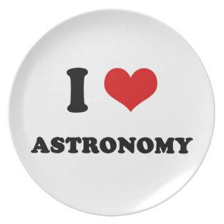 I Heart I Love Astronomy Dinner Plates
