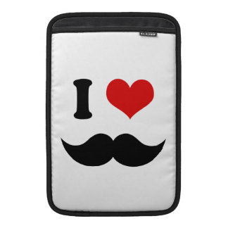 I Heart I Love Black Mustache Sleeve For MacBook Air