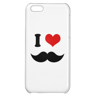 I Heart I Love Black Mustaches Case For iPhone 5C