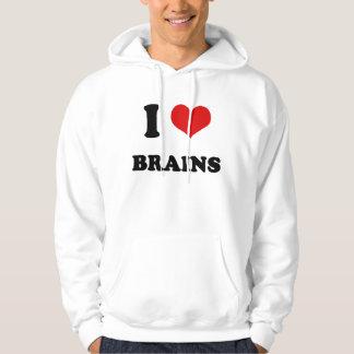 I Heart I Love Brains Hoodie