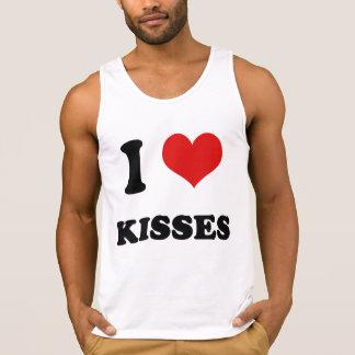 I Heart I Love Kisses Tank Tops
