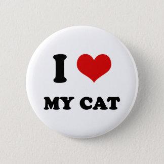 I Heart I Love My Cat Button