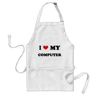 I Heart I Love My Computer Apron