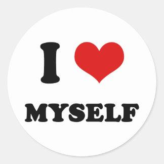 I Heart I Love Myself Sticker