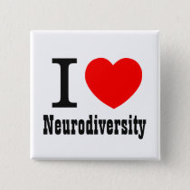 I Heart/I LOVE Neurodiversity Button