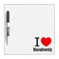 I Heart/I LOVE Neurodiversity Dry Erase Board