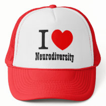 I Heart/I LOVE Neurodiversity Hat