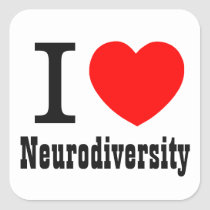 I Heart/I LOVE Neurodiversity Sticker