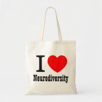 I Heart/I LOVE Neurodiversity Tote Bag