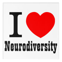 I Heart/I LOVE Neurodiversity Wall Art