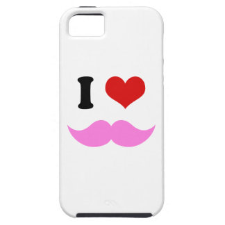 I Heart I Love Pink Mustaches iPhone SE/5/5s Case
