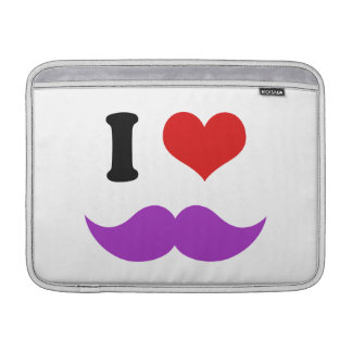 I Heart I Love Purple Mustaches Sleeve For MacBook Air