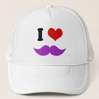 I Heart I Love Purple Mustaches Trucker Hat