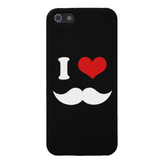 I Heart I Love White Mustaches iPhone SE/5/5s Cover