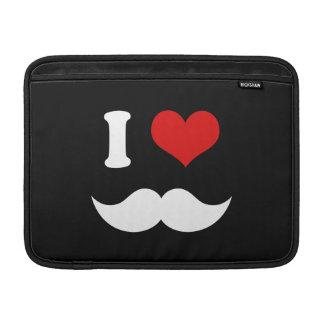 I Heart I Love White Mustaches MacBook Air Sleeve