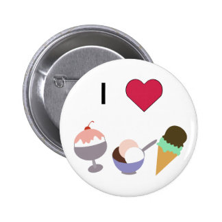 I Heart Ice Cream Buttons