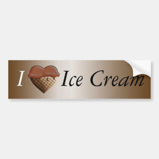 I (Heart) Ice Cream! Chocolate Bumper Sticker